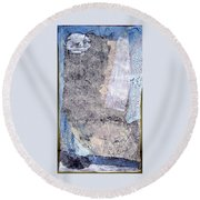 Night Images Round Beach Towel