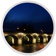 Night In Amboise Round Beach Towel