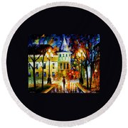 Night Magic Round Beach Towel