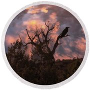 Night Of The Raven Round Beach Towel