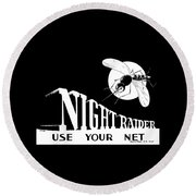 Night Raider Ww2 Malaria Poster Round Beach Towel