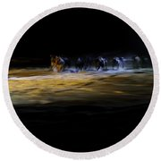 Night Runners Round Beach Towel