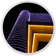 Night Shot - Borgata Round Beach Towel