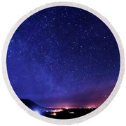 Night Sky Over County Mayo Round Beach Towel