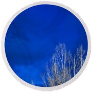 Night Sky Round Beach Towel by Steve Gadomski