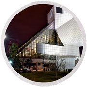 Night Time At The Rock Hall Round Beach Towel