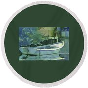 Night Time On Boot Key Round Beach Towel