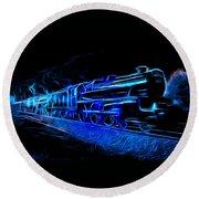 Night Train To Romance Round Beach Towel by Aaron Berg