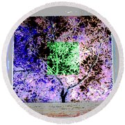 Night Vision Round Beach Towel by Eikoni Images