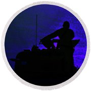 Night Watch Over The Pacific Round Beach Towel