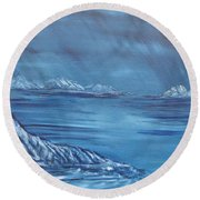 Night World Round Beach Towel