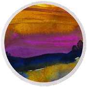 Nightfall 04 Round Beach Towel