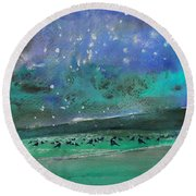 Nightfall 25 Round Beach Towel