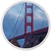 Nightfall Over Golden Gate Round Beach Towel