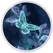 Nightglow Butterfly Round Beach Towel
