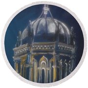 Nights Of Lights Presbyterian Memorial Church St Augustine Florida  Round Beach Towel