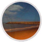 Nightscape La Palma-3 Round Beach Towel