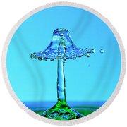 Nightshade Water Droplet Round Beach Towel