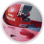 Niki Lauda. 1978 United States Grand Prix Round Beach Towel