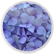 Nikko Blue Petals Round Beach Towel