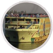 Nile Cruise Ship Round Beach Towel
