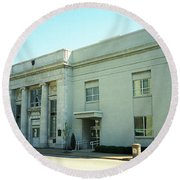 Niles, Ohio - Vintage Bank Round Beach Towel