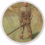 Nils Kreuger, 1858-1930, Young Boy, Scene From Holland. Executed In July-august 1883 Round Beach Towel