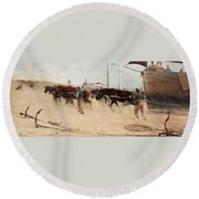 Nils Kreuger,   From The Dutch Coast. Round Beach Towel