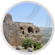 Nimrod Fortress National Park  Round Beach Towel