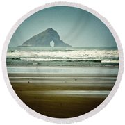 Ninety Mile Beach Round Beach Towel by Dave Bowman