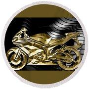 Ninja Motorcycle Collection Round Beach Towel