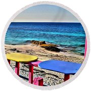 Nippers View Round Beach Towel