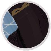 Niqabi Right Round Beach Towel