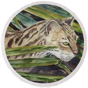 Nirvana - Ocelot Round Beach Towel