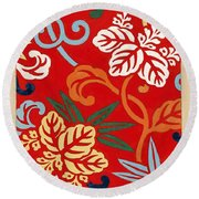 Nishike Brocade With Paulownia Arabesque Round Beach Towel