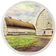 Nisqually Twin Barns Round Beach Towel