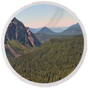 Nisqually Valley In Color Round Beach Towel