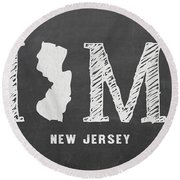 Nj Home Round Beach Towel