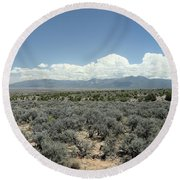 New Mexico Landscape 3 Round Beach Towel