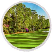 No. 10 Camellia 495 Yards Par 4 Round Beach Towel