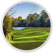 No. 5 Magnolia 455 Yards  Par 4 Round Beach Towel