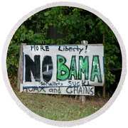 No Bama Round Beach Towel