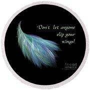 Wings Round Beach Towel