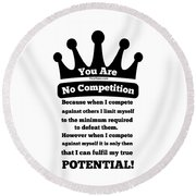 No Competition Round Beach Towel