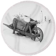 No Gardening Yet Round Beach Towel