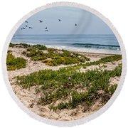 Carpinteria State Beach Round Beach Towel