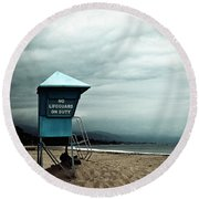 Santa Barbara Life Guard Round Beach Towel