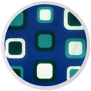 No Major Round Beach Towel by Oliver Johnston