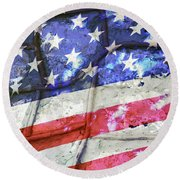 No Matter What Divides Us Round Beach Towel