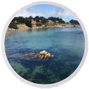 No Place Like Monterey Round Beach Towel